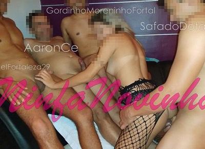 Magrinha de corno em fotos de sexo amador