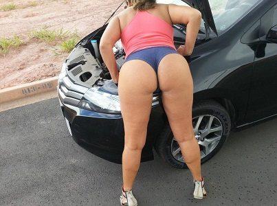 Quebrou o carro da rabuda gostosa ?